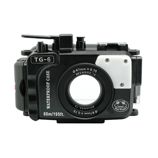 Olympus TG-6 60m/195ft SeaFrogs Underwater Camera Housing (Black)