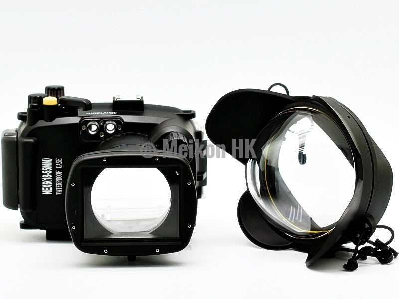 Sony NEX 6 (18-55) 40m/130ft Meikon Underwater camera housing wide angle lens kit