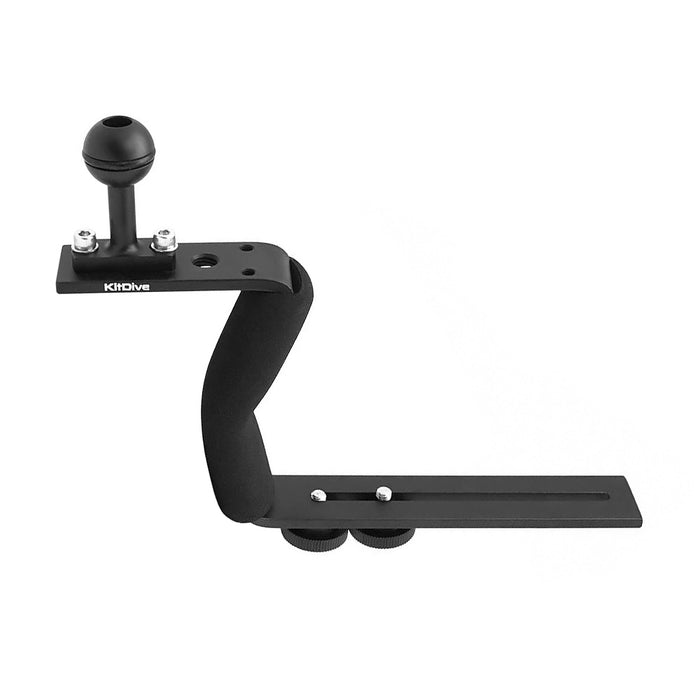 Black Aluminium Diving Handle for Underwater Camera Housings