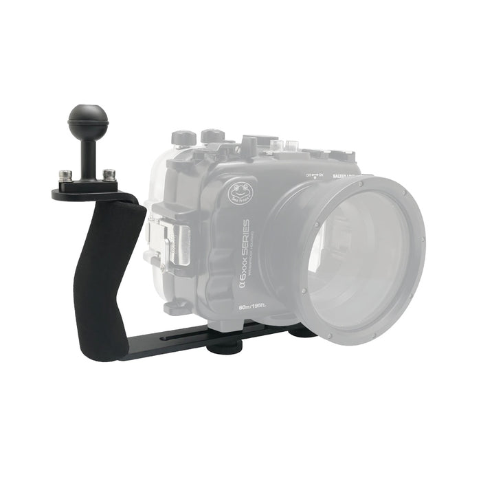 Aluminium diving grip for UW camera housings Ver.II