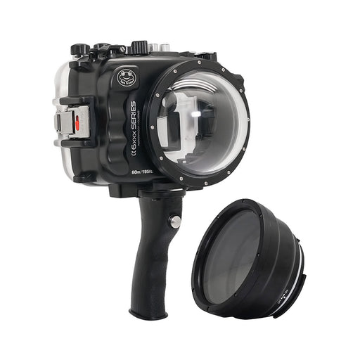 "SeaFrogs UW housing for Sony A6xxx series Salted Line with pistol grip & 4"" Dry Dome Port (Black) / GEN 3"