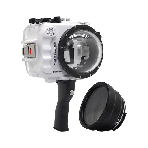 "SeaFrogs UW housing for Sony A6xxx series Salted Line with pistol grip & 4"" Dry Dome Port (White) / GEN 3"