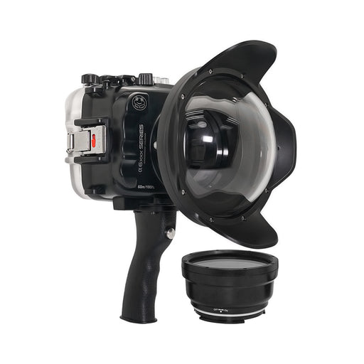 "SeaFrogs UW housing for Sony A6xxx series Salted Line with pistol grip & 6"" Dry dome port"