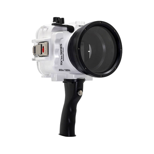 60M/195FT Waterproof housing for Sony RX1xx series Salted Line with Pistol grip (White)