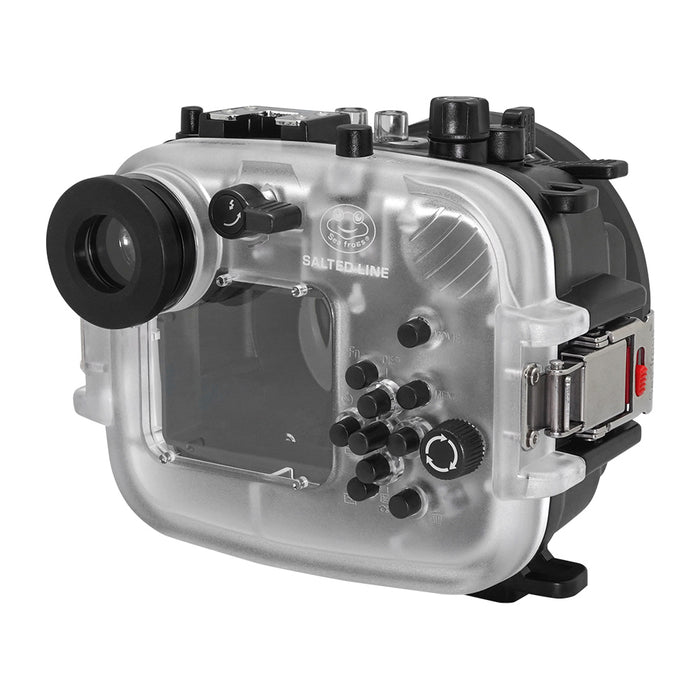 "60M/195FT Waterproof housing for Sony RX1xx series Salted Line with Pistol grip & 6"" Dry Dome Port (Black)"