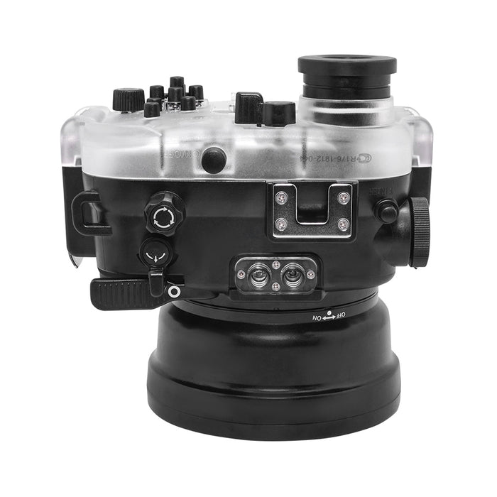 "60M/195FT Waterproof housing for Sony RX1xx series Salted Line with Pistol grip & 4"" Dry Dome Port (Black)"