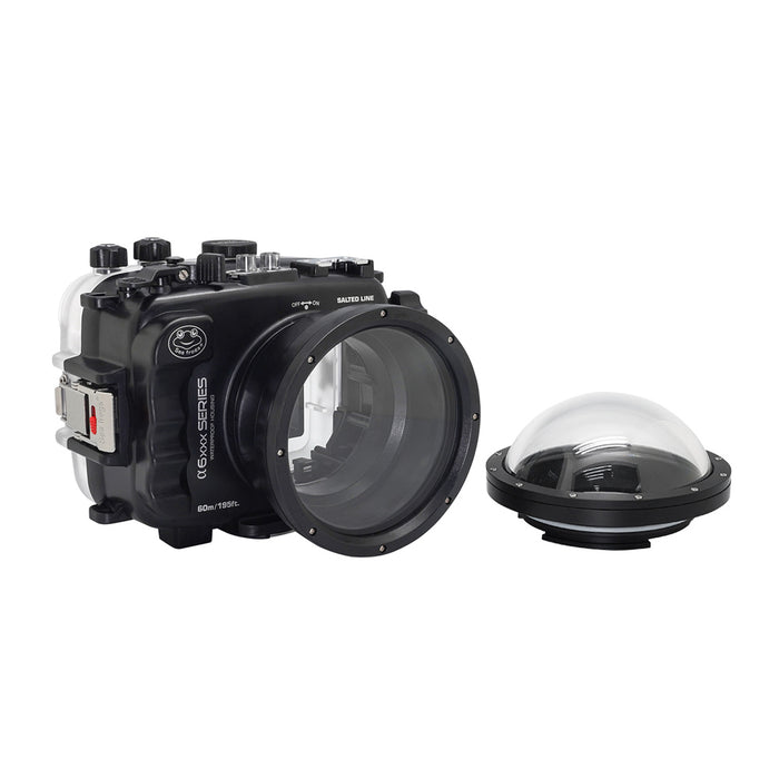 "SeaFrogs UW housing for Sony A6xxx series Salted Line with 4"" Dry Dome Port (Black) / GEN 3"