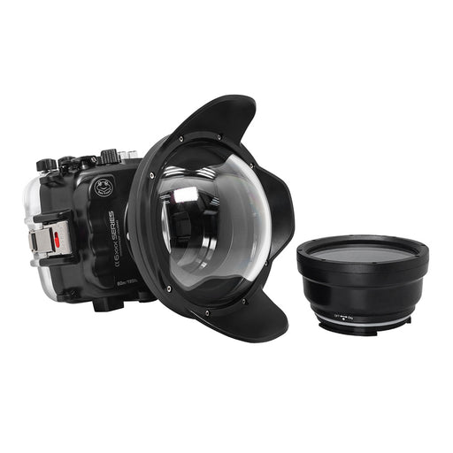"SeaFrogs 60M/195FT Waterproof housing for Sony A6xxx series Salted Line with 6"" Dry dome port / GEN 3"