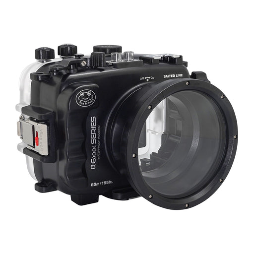 SeaFrogs 60M/195FT Waterproof housing for Sony A6xxx series Salted Line/ GEN 3