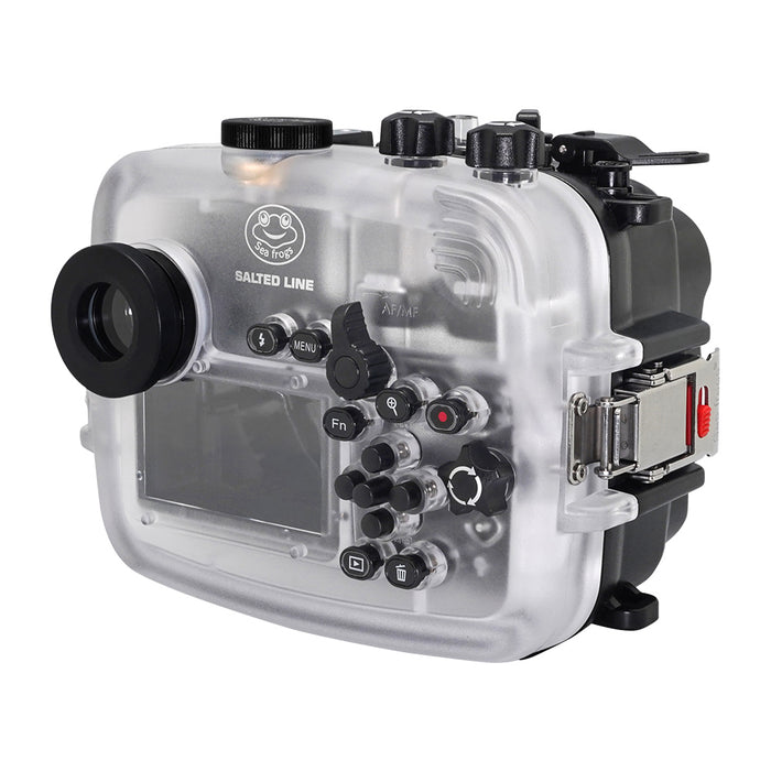 SeaFrogs 60M/195FT Waterproof housing for Sony A6xxx series Salted Line with 67mm threaded short / Macro port / GEN 3