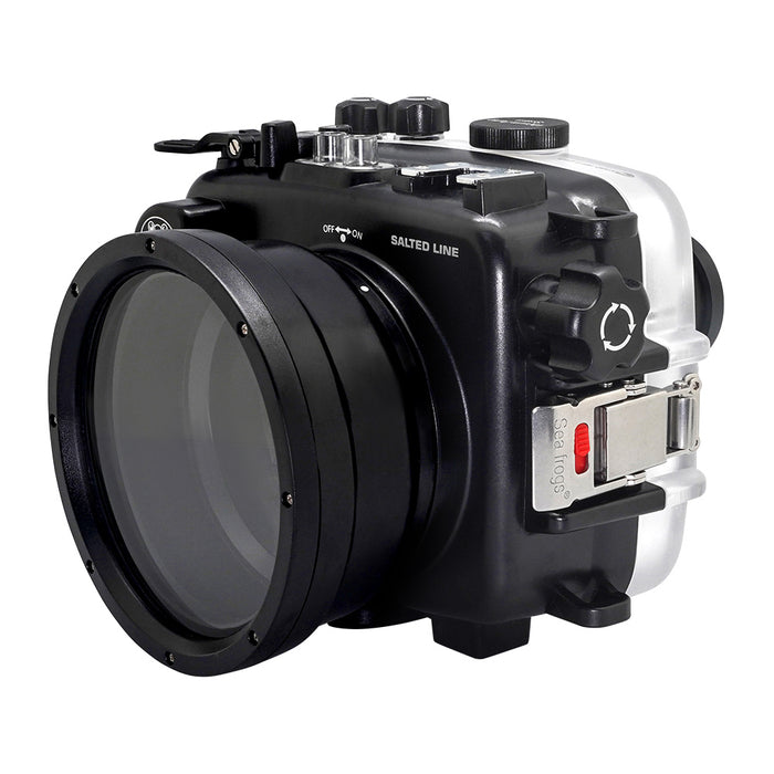 SeaFrogs 60M/195FT Waterproof housing for Sony A6xxx series Salted Line with pistol grip