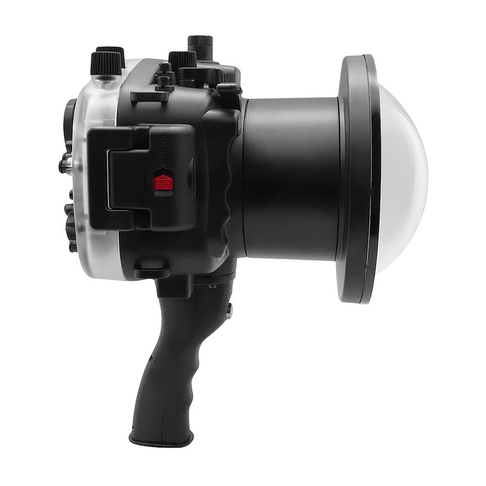 "Sony A7 II NG V.2 Series 40M/130FT UW camera housing with 6"" Dome port & pistol grip (Including Standard port) Black"
