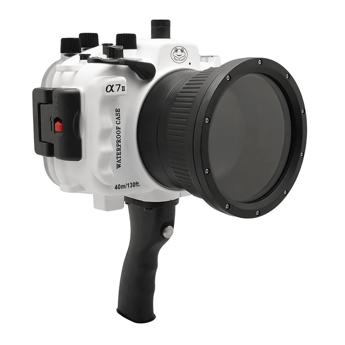 Sony A7 II NG V.2 Series 40M/130FT Underwater camera housing with pistol grip (Standard port) White