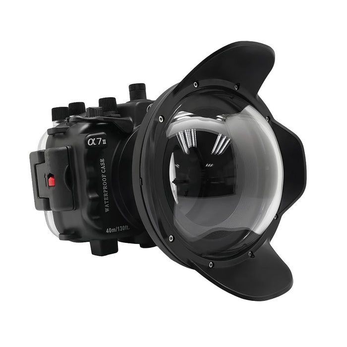 "Sony A7 II NG V.2 Series 40M/130FT UW camera housing with 6"" Dome port (Standard port) Black"