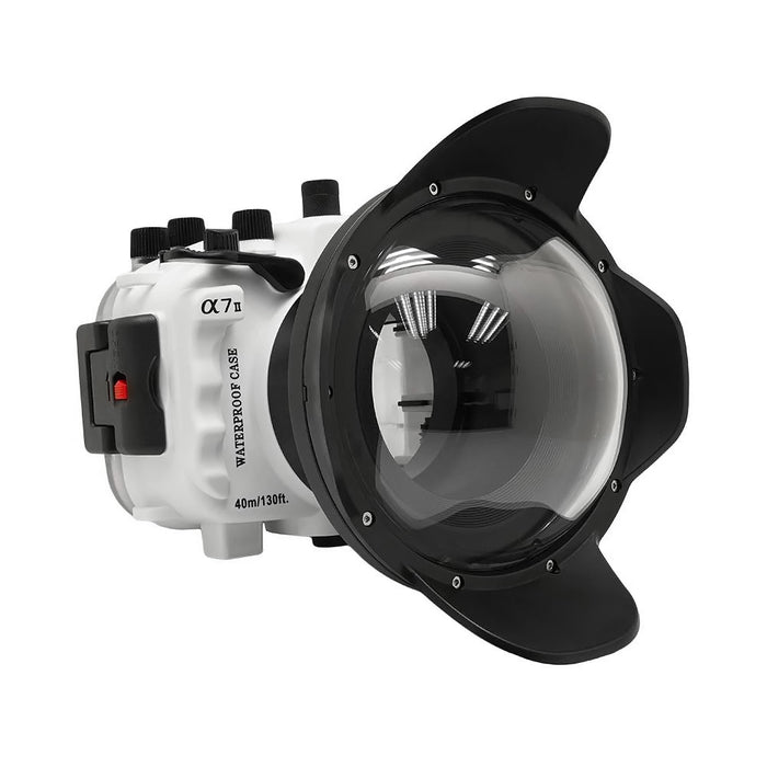 "Sony A7 II NG V.2 Series 40M/130FT UW camera housing with 6"" Dome port (Standard port) White"