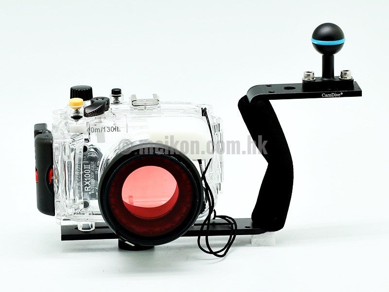 Sony DSC-RX100 II 40m/130ft Meikon Underwater camera housing aluminium handle kit