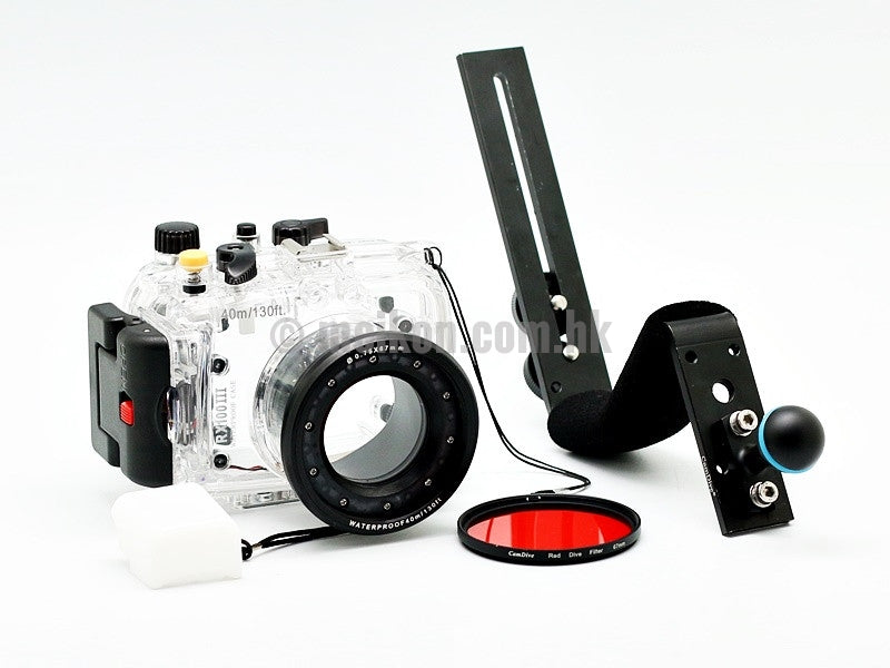 Underwater camera housing case for sony dsc rx100 iii with camdive aluminium handle apart view