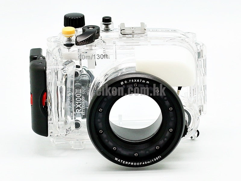 Sony DSC RX100 II Underwater camera housing case front view