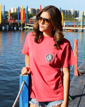 Load image into Gallery viewer, Old Glory Coastal Waters Pocket Tee Faded Red