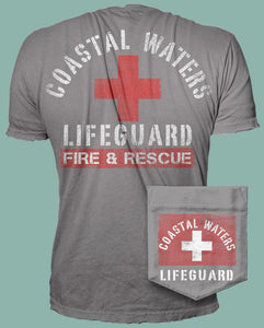 Lifeguard Pocket Tee - Dusk Blue