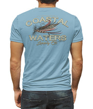 Load image into Gallery viewer, Fly Fishing Short Sleeve Pocket Tee - Dusk Blue
