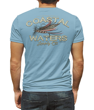 Fly Fishing Short Sleeve Pocket Tee - Dusk Blue