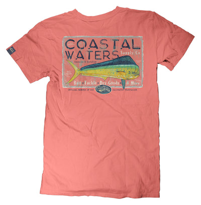 Mahi Supply Pocket Tee - Coral