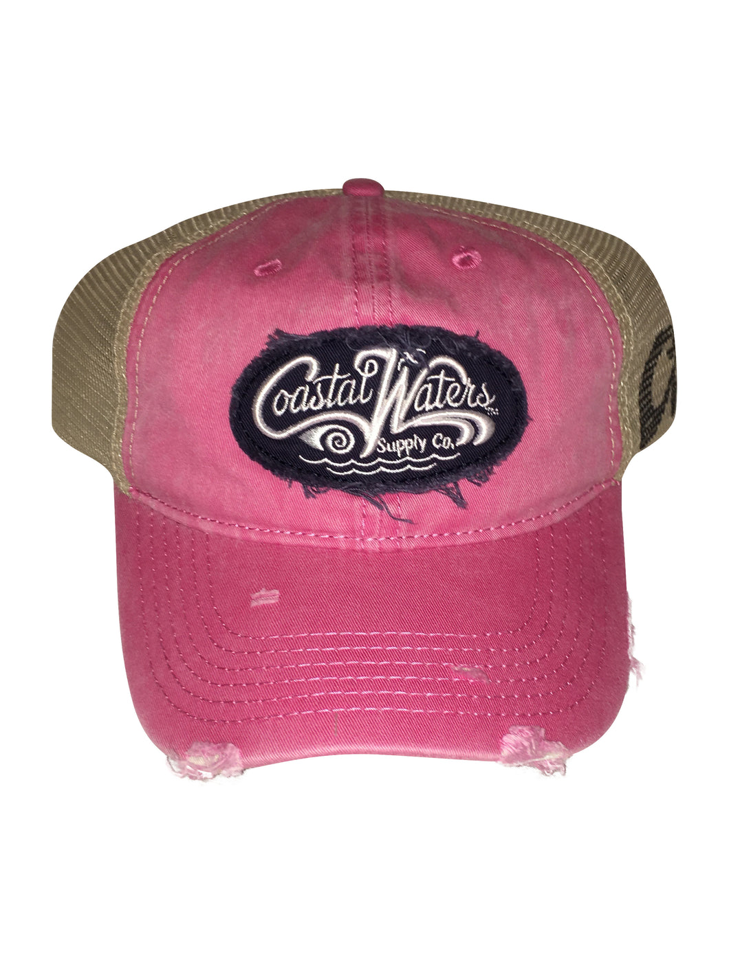 CW Distressed Trucker Pink