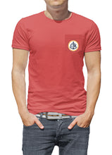 Load image into Gallery viewer, Vintage Coastal Waters Pocket Tee Faded Red