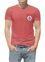 Load image into Gallery viewer, Surfer Coastal Waters Pocket Tee Faded Red