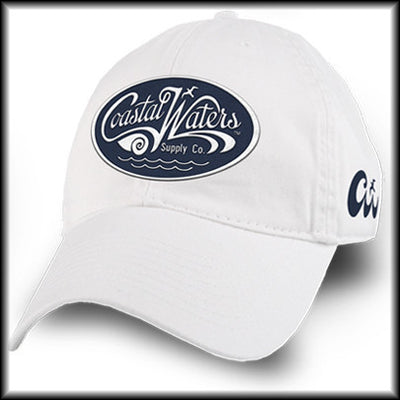 Relaxed Cotton Twill Hat with Blue Oval Logo