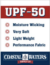 Load image into Gallery viewer, Coastal Waters Crew Neck UPF 50 Sun Protection Tee- Cobalt Blue