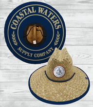 Load image into Gallery viewer, Coastal Waters Nautical Straw Sun Hat