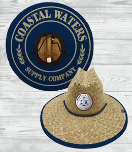 Coastal Waters Nautical Straw Sun Hat