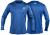 Coastal Waters Crew Neck UPF 50 Sun Protection Tee- Cobalt Blue