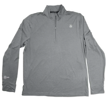 Load image into Gallery viewer, Coastal Waters Men's 1/4 Zip Sun Protection Pullover - Cool Grey