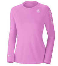 Load image into Gallery viewer, Coastal Waters Crew Neck Women's UPF 50 Sun Protection Tee- Pink