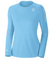 Coastal Waters Crew Neck Woman's UPF 50 Sun Protection Tee- Sky Blue