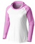 Coastal Waters Woman's Hooded Raglan Long Sleeve Sun Protection-UPF 50 - White & Pink