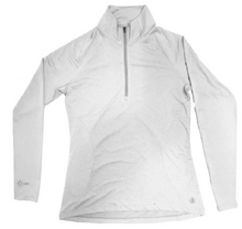 Load image into Gallery viewer, Coastal Waters Women's 1/4 Zip Sun Protection Pullover - White