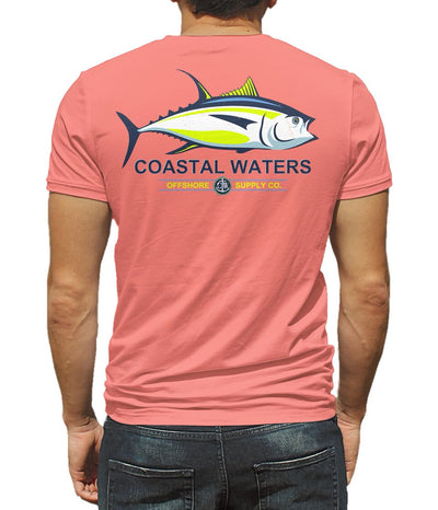 Tuna Offshore Pocket Tee - Coral