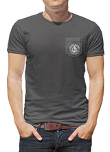 Load image into Gallery viewer, Classic Anchor Coastal Waters Pocket Tee Charcoal