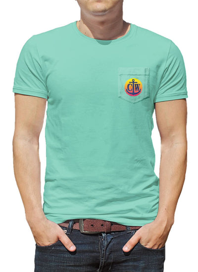 Marlin Vintage Pocket Tee - Lucite Green