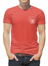 Load image into Gallery viewer, Classic Anchor Coastal Waters Pocket Tee Faded Red