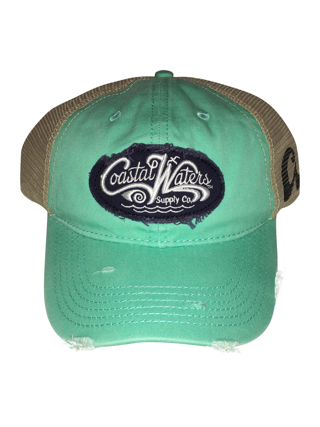 CW Distressed Trucker Turquoise