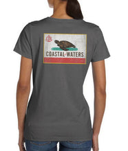Load image into Gallery viewer, Coastal-fornia Coastal Waters Pocket Tee Charcoal