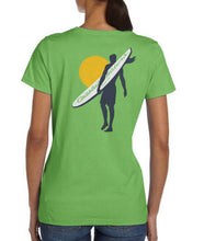 Load image into Gallery viewer, Surfer Coastal Waters Pocket Tee Greenery