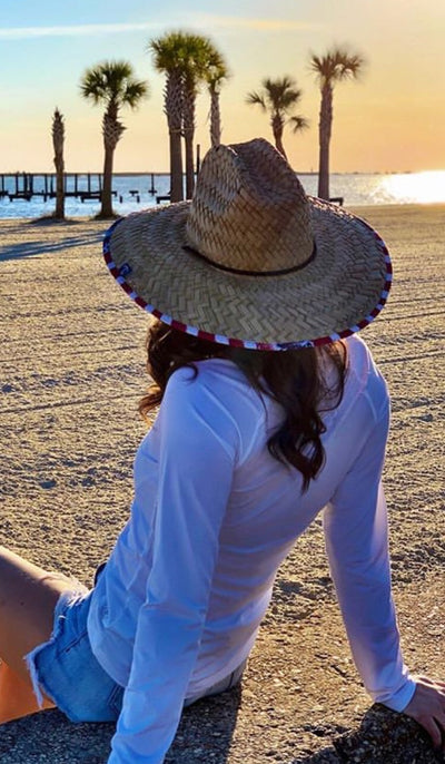 USA Straw Sun Hat