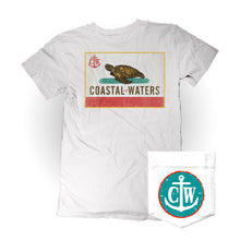 Load image into Gallery viewer, Coastal-fornia Coastal Waters Pocket Tee White