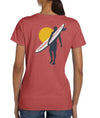 Surfer Coastal Waters Pocket Tee Faded Red